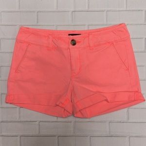 American Eagle neon orange midi shorts   size 0